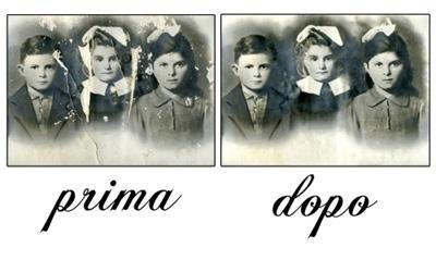 un'immagine in bianco e nero prima e dopo un ritocco