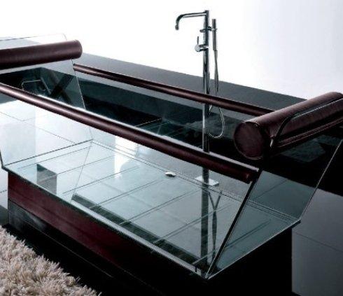 vasca  da bagno design trasparente