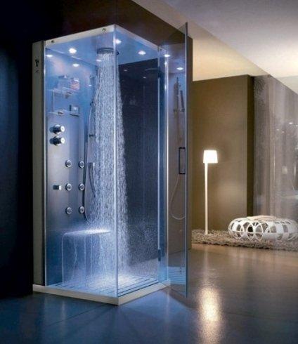 doccia idromassaggio a vista