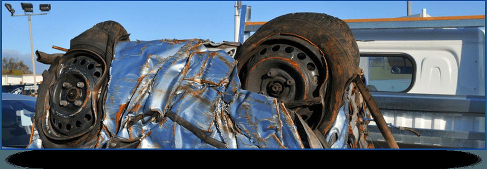 crushed vehicle