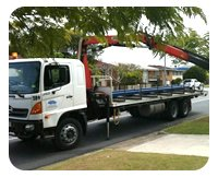 Russell Transport mobile crane