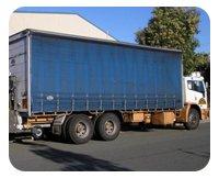 Caloundra General Transport blue truck