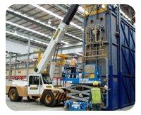 Metro Lift Crane Hire inside factory