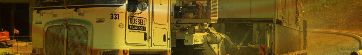 russell transport semi trailer