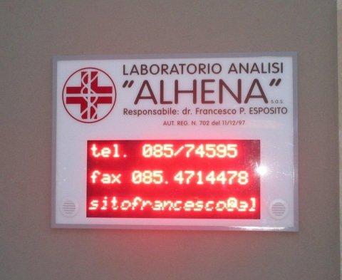 targa esterna laboratorio analisi