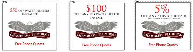 Chambliss Plumbing coupons