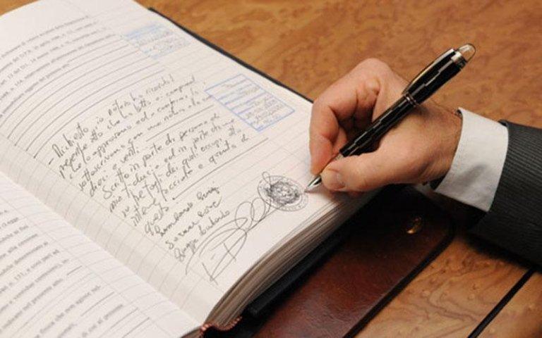 firma autenticata notaio