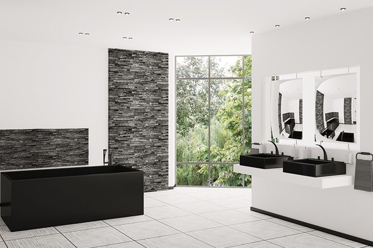 deluxe bathrooms tile centre stylish modern bathroom