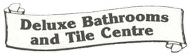 deluxe bathrooms tile centre logo