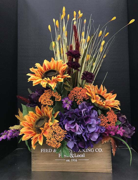 Fall Flowers Arrangement