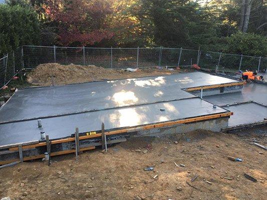 S & L Concrete cement is laid