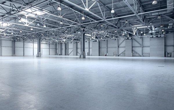 warehouse concrete floor