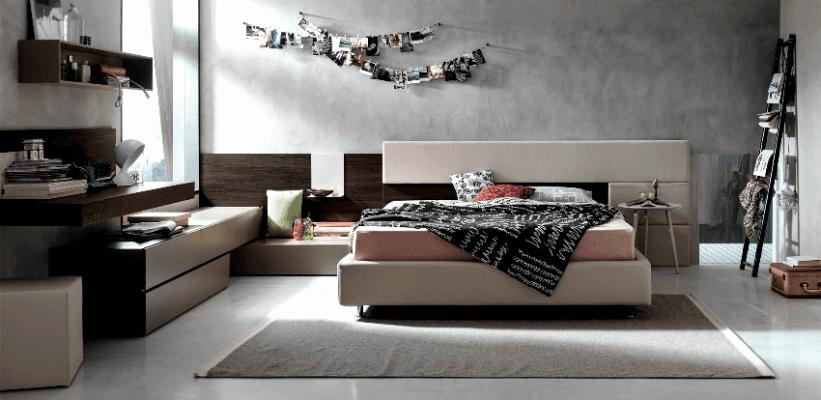 accogliente camera da letto dal design moderno