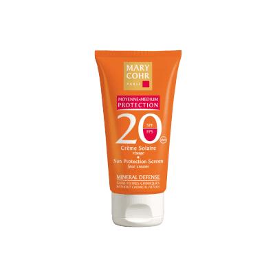 Spf20 crème solaire visage