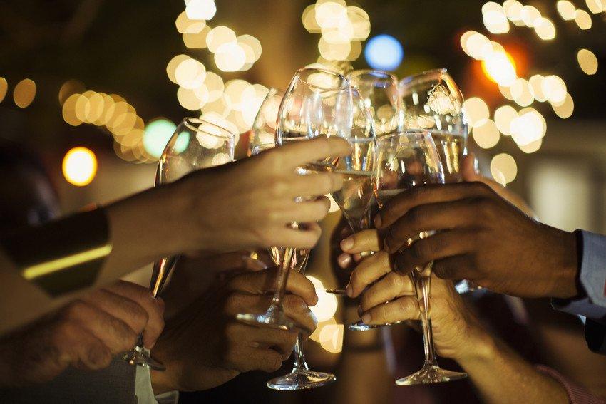 raising the toast
