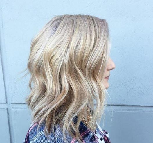 permanent wave blonde hair