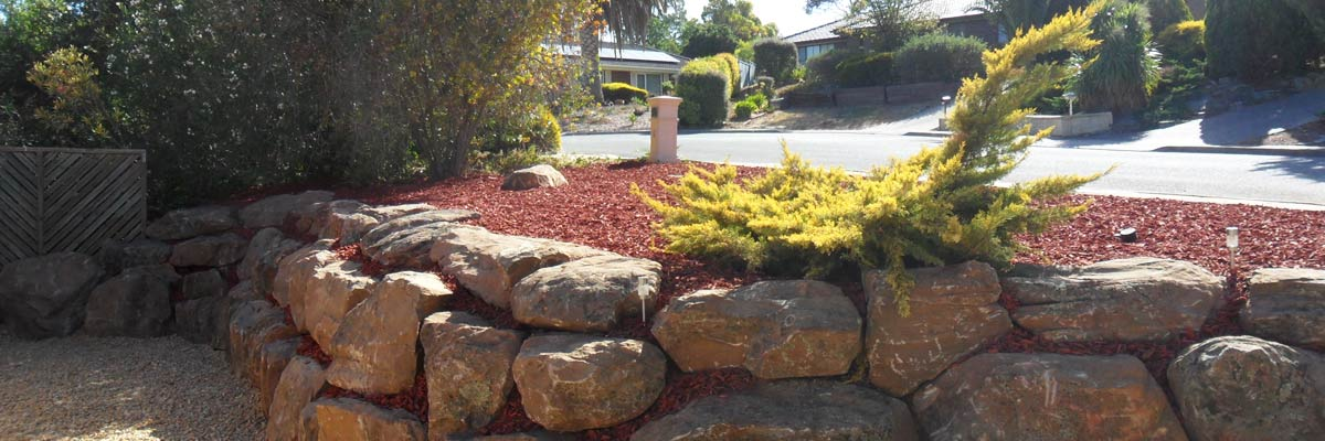 Southern Scapes Retaining Wall and Excavations rock breaking