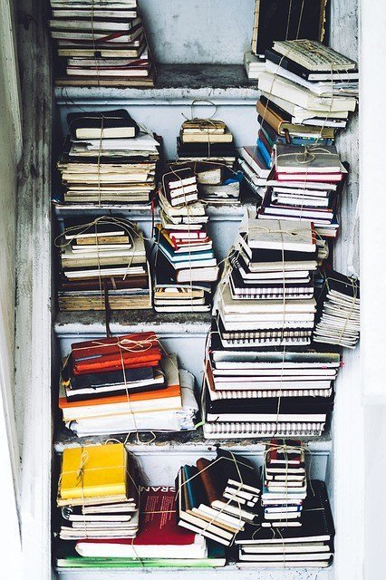 content marketing, brand awareness old school research closet full of books