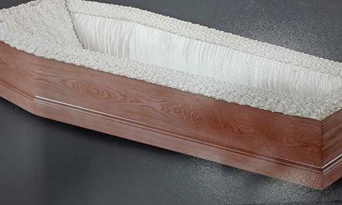 Bara di legno foderato di bianco