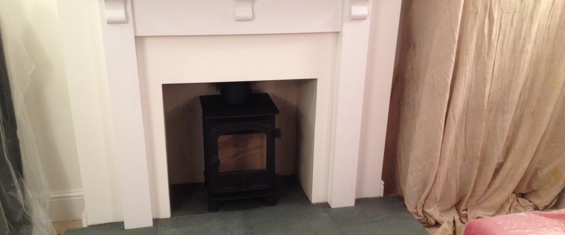 customised wood burning stove