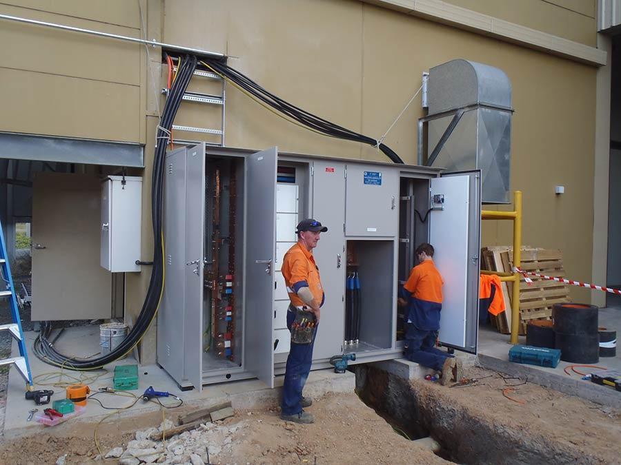 bonnett's electrical staff at radevski cold room
