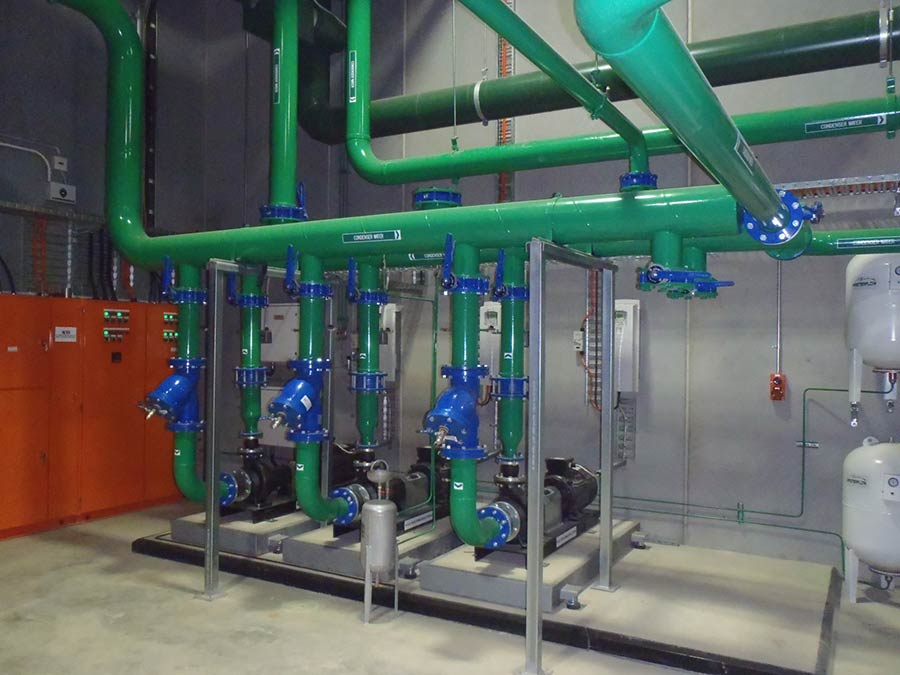 industrial green pipes