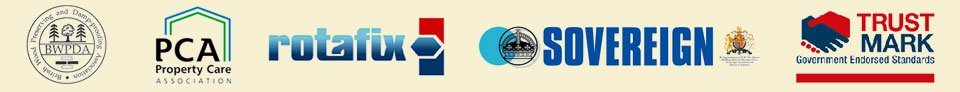 BWPDA, PCA, rotafix, Soverign, Trustmark logo