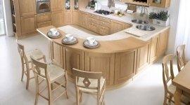 cucina in legno chiaro