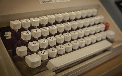 Particolare macchina da scrivere vintage