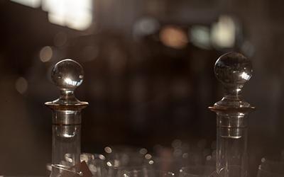 Bottiglie in cristallo