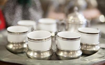 Set tazzine con inserto argento