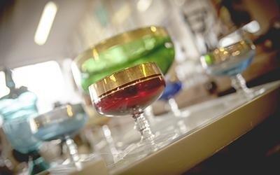 Bicchieri vetro colorato