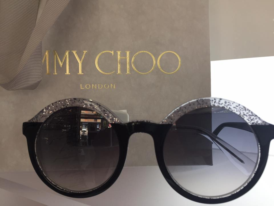 occhiali da sole tondi Jimmy Choo