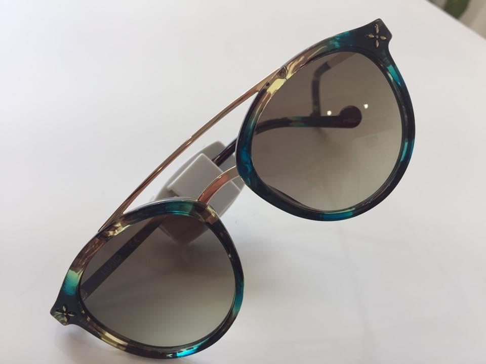 occhiali da sole montatura verde