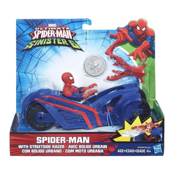 SPIDER-MAN con moto da strada