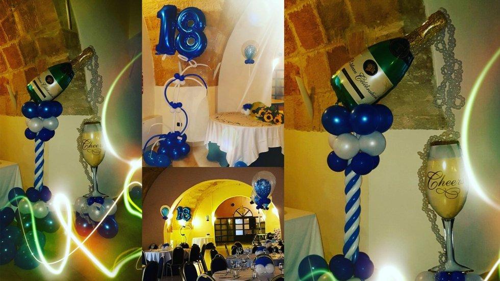 composizione palloncini 18 anni