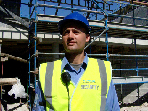 Security professional at the construction site