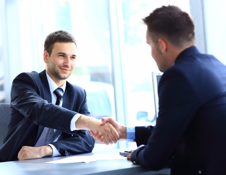 Professional in discussion with the customer