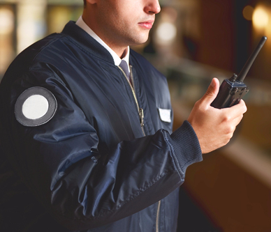 Security professional at the event