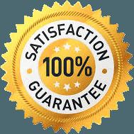 Satisfaction 100% Guarantee Label
