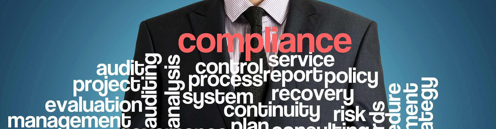 man in suit compliance word