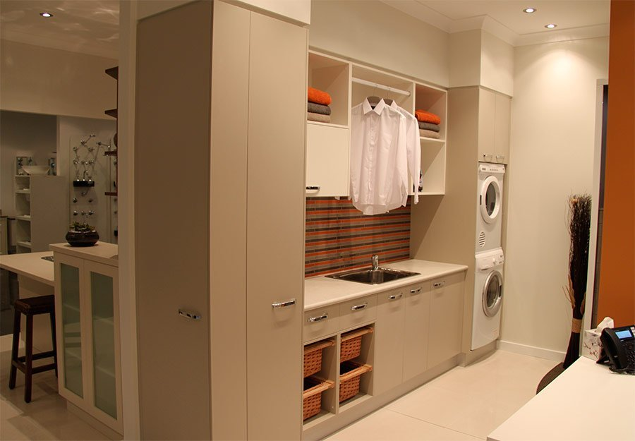Pulse Kitchens and Interiors laundry display