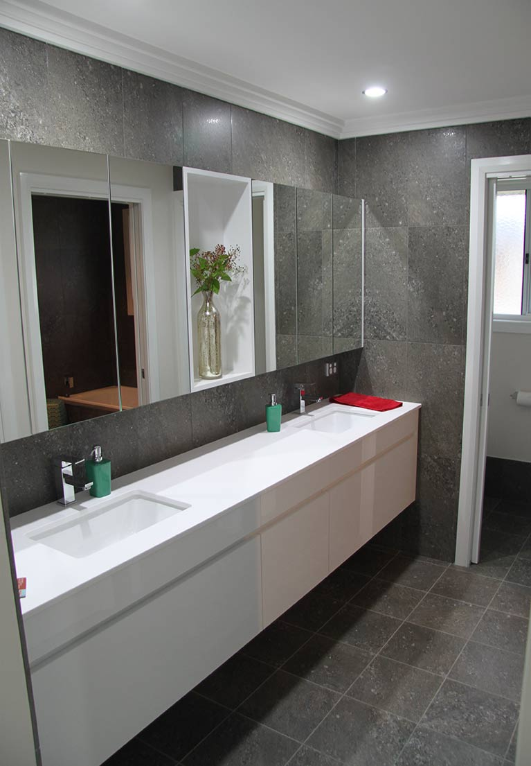 Pulse Kitchens and Interiors double vanity unit