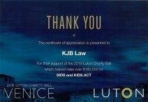 luton charity ball invite