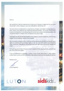 luton charity ball letter