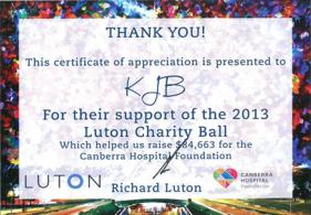 luton charity ball flyer