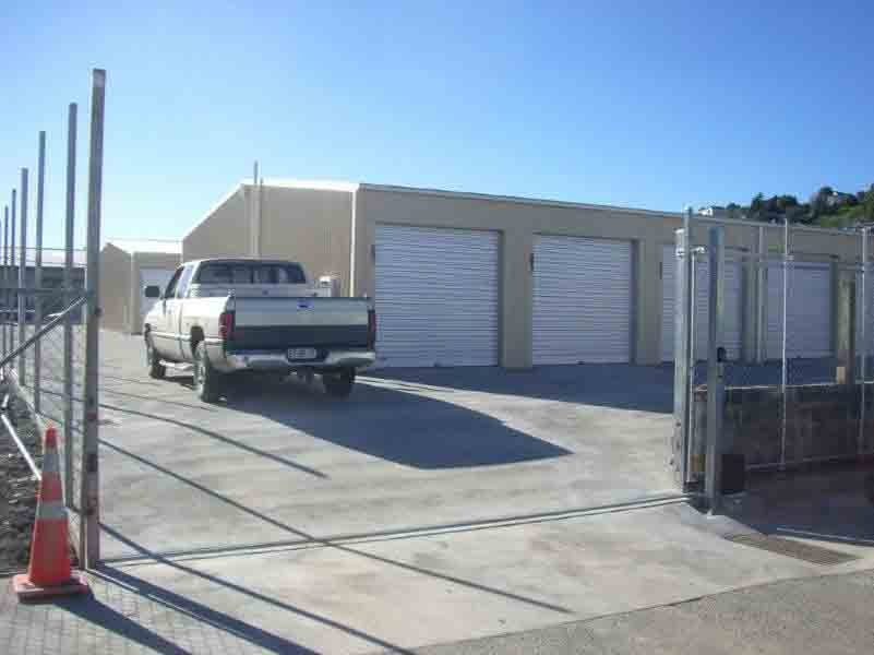 Front view of Self storage sheds
