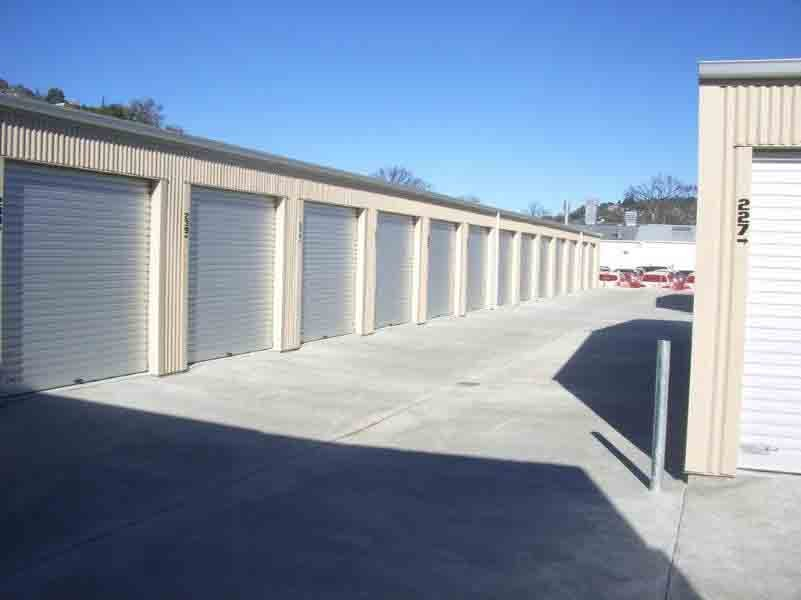 View of Storage units