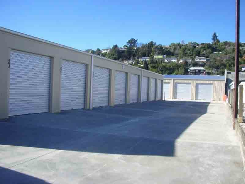 View of storage sheds