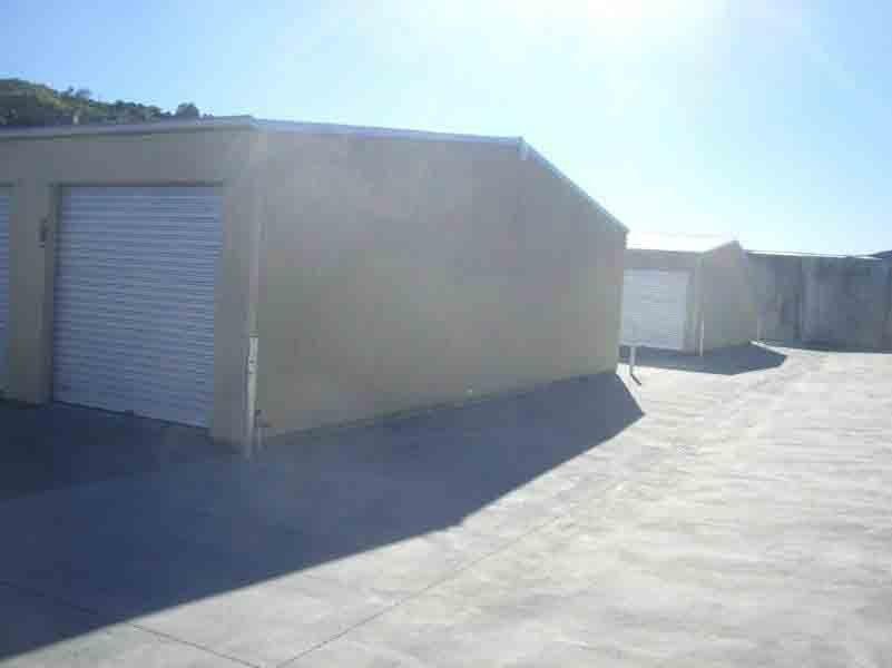 Corner view of Self storage sheds